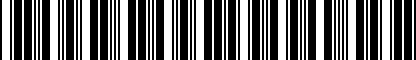 Barcode for 200208964